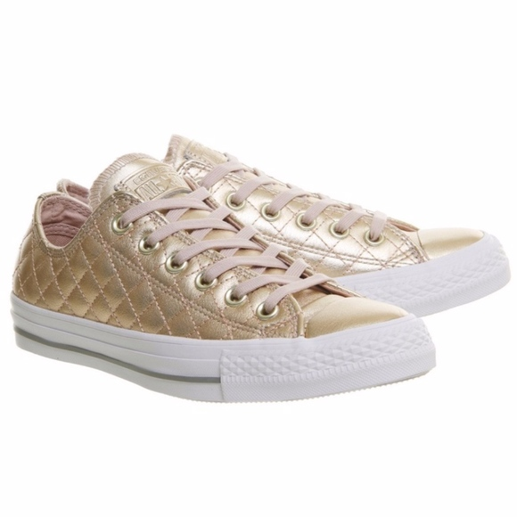 36ae0d025480 New Converse CTAS OX Quilted Blush Gold Sneakers